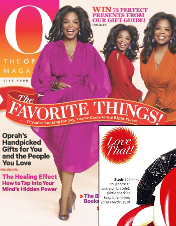 The Oprah Magazine Loves Lisa Freede's Jewelry Crystal Pyramid Bracelet