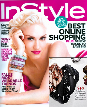 Lisa Freede's Chain Cuff Featured on InStyle Magazine as Under What Celebrities are Wearing