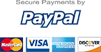 Paypal, Visa, Amex, Discover
